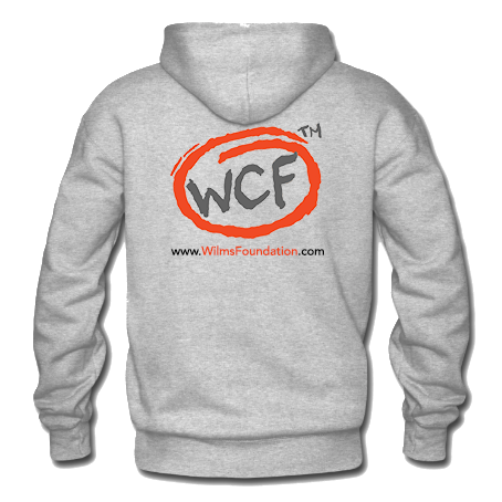 Mens Hoodie: Classic WCF Icon (Light Grey)