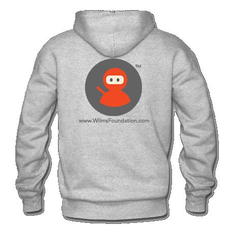 Mens Hoodie: Wilms Warriors™/ Ninja/ Grey/ Orange (Light Grey)