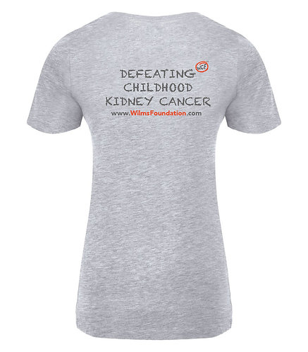 Ladies Tee's: Slogans (Defeating Childhood Kidney Cancer)