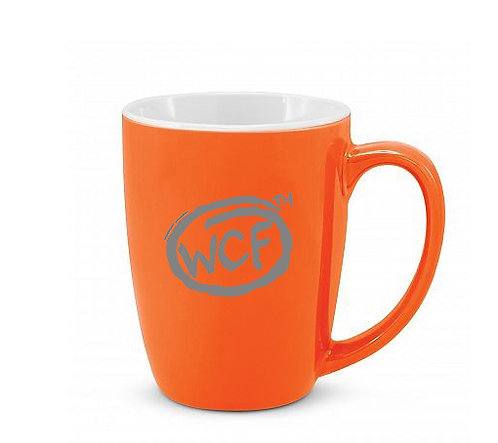 Coffee Mug: Classic WCF Icon (Orange)
