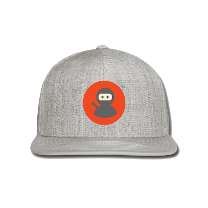 Snap-back Baseball Cap: Wilms Warriors™/ Ninja / Orange/ Grey (Light Grey)