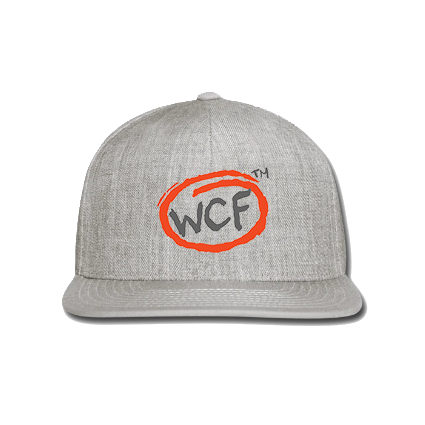 Snap-back Baseball Cap: Classic WCF Icon (Light Grey)