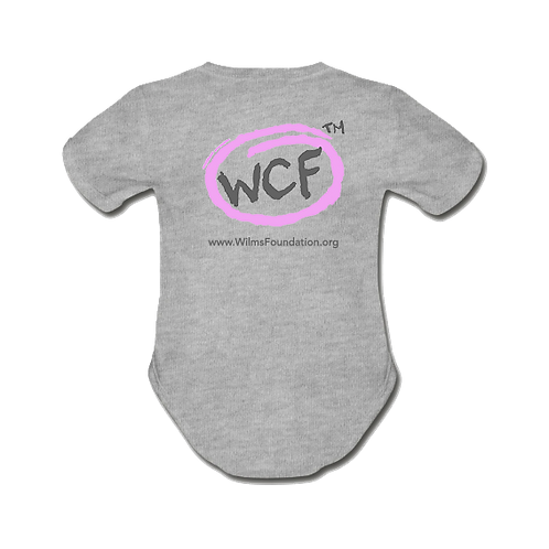Baby Short Sleeve Bodysuit: Classic WCF Icon/ Pink (Light Grey)