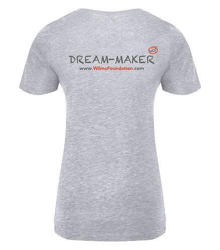 Ladies Tee's: Slogans/ Dream-Maker (Light Grey)