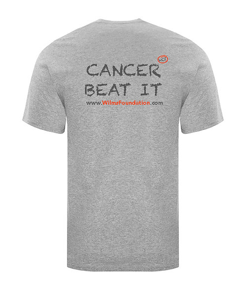 Childrens  Tee's: Slogans/ Cancer... Beat It (Light Grey)