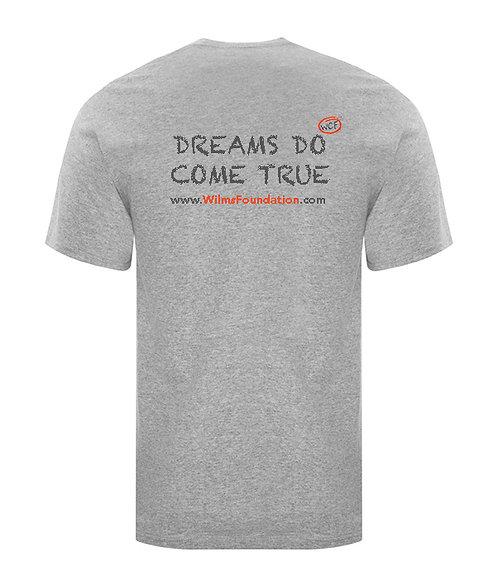 Childrens Tee's: Slogans:/ Dreams Do Come True (Light Grey)
