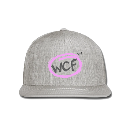 Snap-back Baseball Cap: Classic WCF Icon/ Pink (Light Grey)