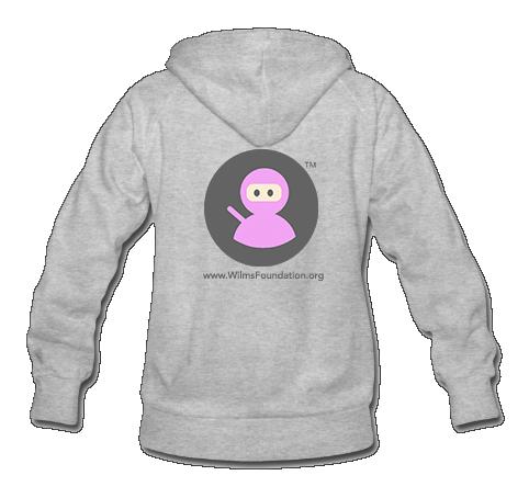Ladies Hoodie: Wilms Warriors™ / Ninja/ Grey/ Pink (Light Grey)