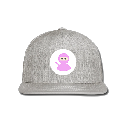 Snap-back Baseball Cap: Wilms Warriors™/ Ninja / White/ Pink (Light Grey)