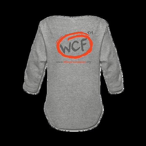Baby Long-Sleeve Bodysuit: Classic WCF Icon (Light Grey)
