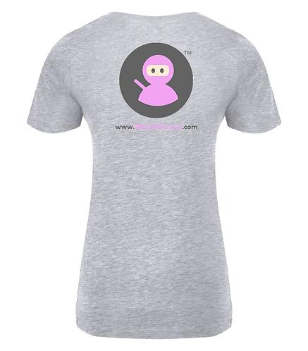 Ladies Tee's Wilms Warriors™/ Pink Ninja Icon (Light Grey)