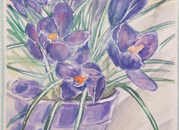 """Spring Purple"" Painting"