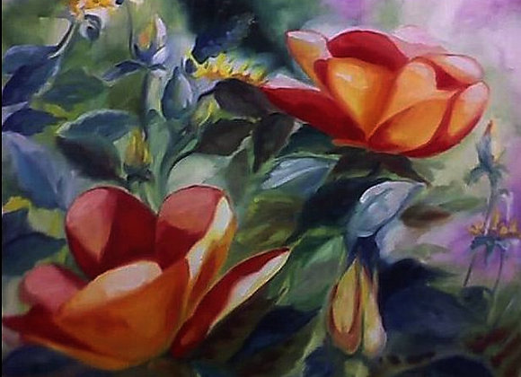 """""""Astrailian Roses"""" Painting"""