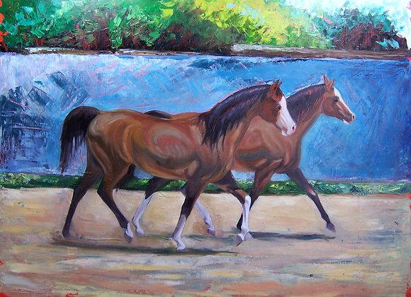 """""""Bay Siblings"""" Painting"""