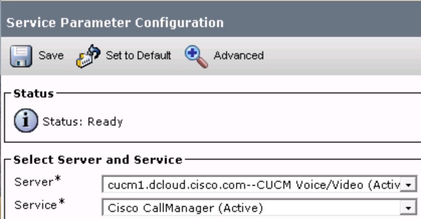 Service Parameters Configuration