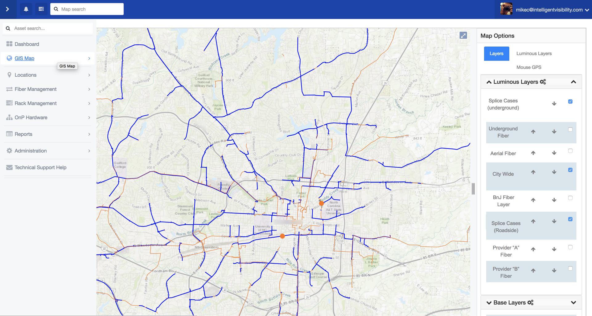 Luminous Mapping GIS Layers