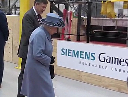 The Queen visits Siemens Gamesa in Hull.