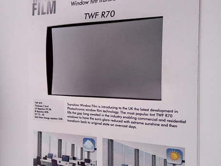 Photochromic film samples now available
