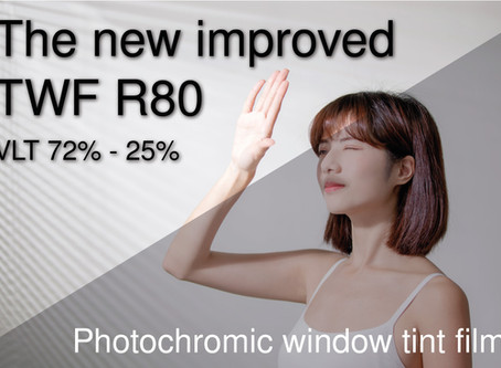 We launch the new R80 transitional window tint.