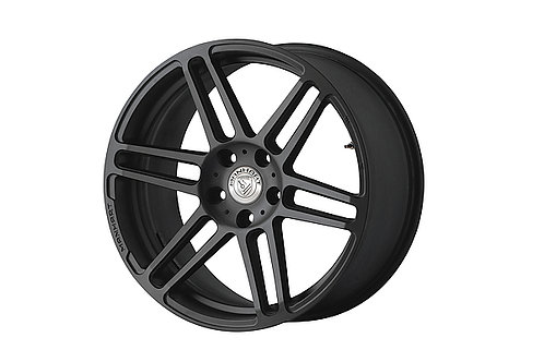 "20"" 9,0x20 Manhart Rims Silk Matte Black"