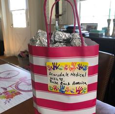 Gift bag for Scarsdale Medical Group