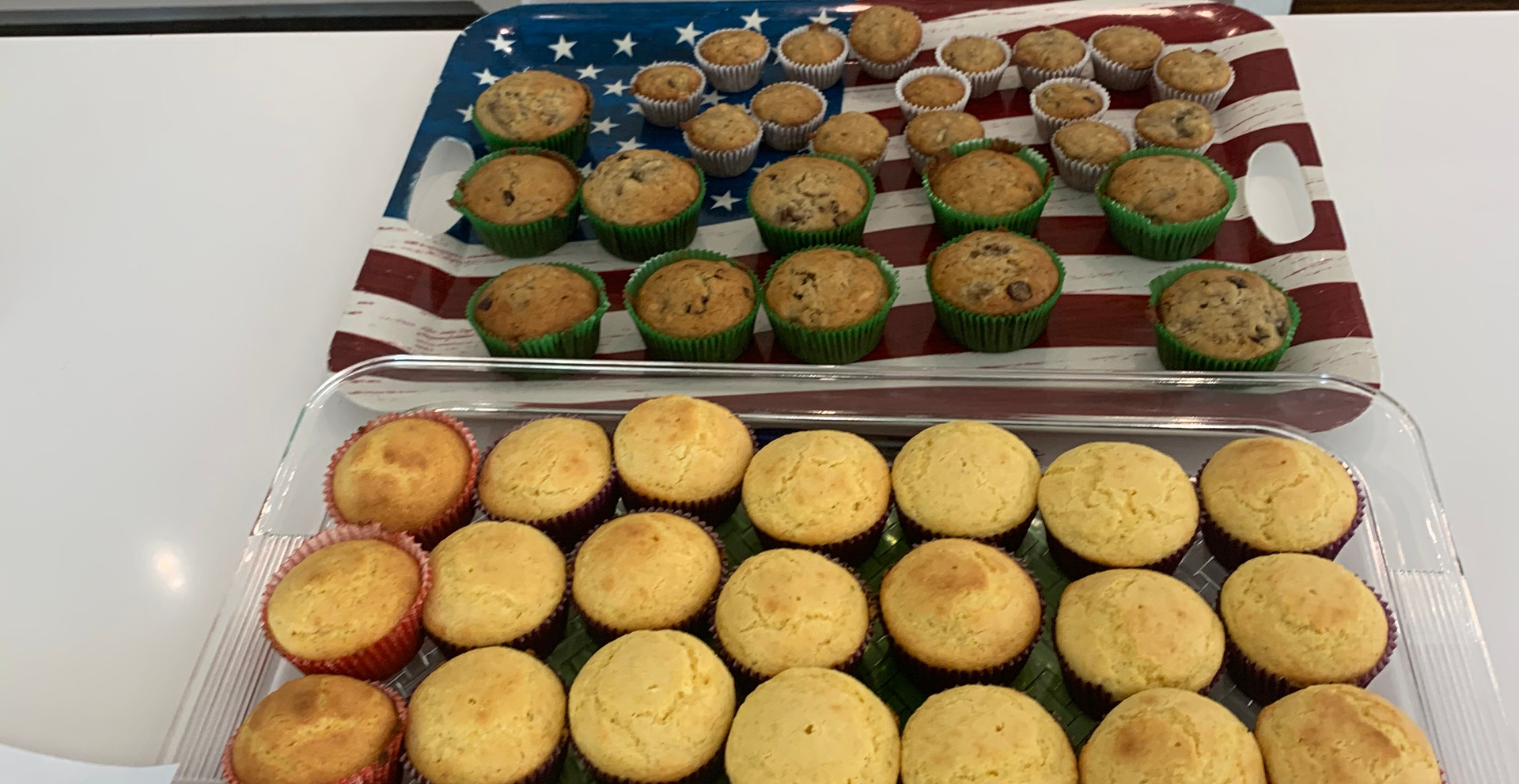 Baked goods made by Scarsdale volunteers