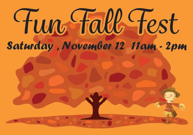 November 12 is Fun Fall Fest