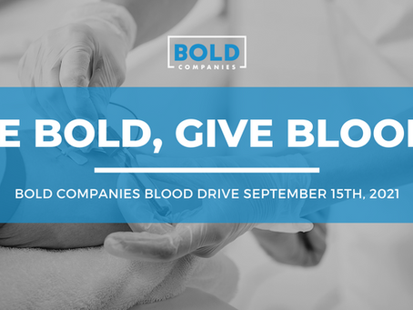 Be BOLD, give blood!