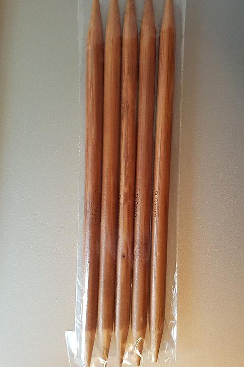 9,0 mm strømpepinde (bambus) sæt m. 5