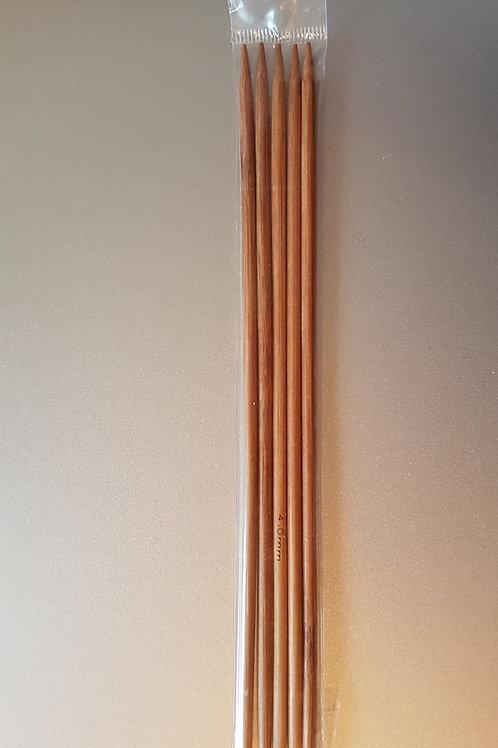 4,0 mm strømpepinde (bambus) sæt m. 5