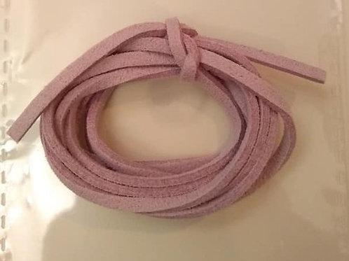 Lædersnøre - rosa