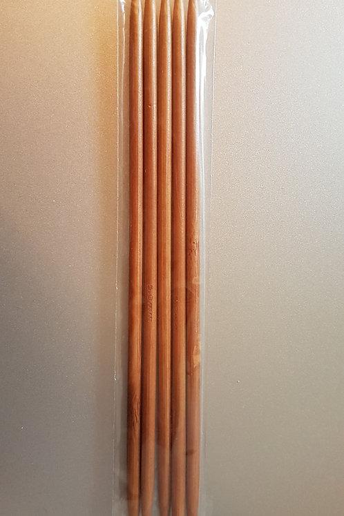 5,0 mm strømpepinde (bambus) sæt m. 5