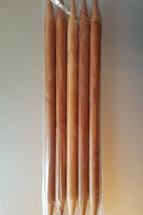 10,0 mm strømpepinde (bambus) sæt m. 5