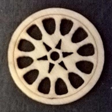 Deco-hjul i træ. Lille