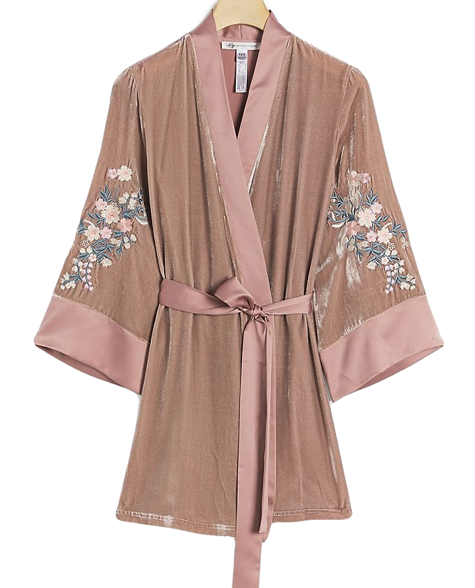 Asha Embroidered Robe | Anthro
