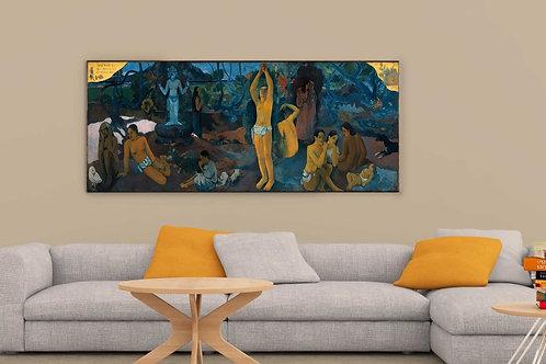 Gauguin,De onde nós viemos,O que nós somos,Onde estamos indo,quadro,poster,gravura,replica,canvas,reprodução,gravura,tela