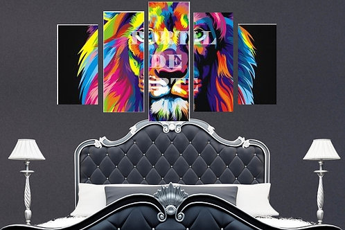 quadro decorativo moderno colorido, leão de judá, quadro, poster, gravura, replica, canvas, reprodução, gravura, tela