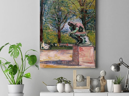 Edvard Munch, O Pensador, The Thinker, quadro, poster, gravura, canvas, réplica, reprodução, tela, pintura