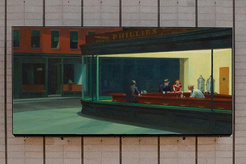 Edward Hopper,Notívagos,Nighthawks,quadro, poster, replica, gravura, canvas, reprodução, tela,fototela,pintura