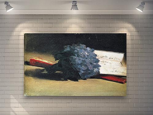 edouard manet, bouquet de violetas, buque de violetas, , quadro, poster,gravura,canvas,replica, reprodução,bouquet of violets