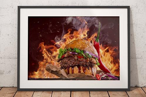 quadro,poster,gravura,canvas,foto,tela,fotografia,cozinha,Alimento,Carne,Grelhada,Hambúrguer,sala,jantar,varanda gourmet