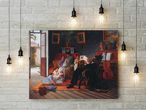 Almeida Junior, Cena da Família Adolfo Pinto, quadro, poster, gravura, replica, canvas, reprodução, tela, releitura
