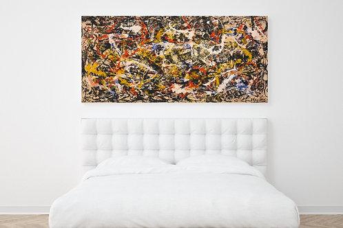 Jackson,Pollock, Convergência,quadro,poster,gravura,replica,reprodução,canvas,fototela,tela,pintura,releitura