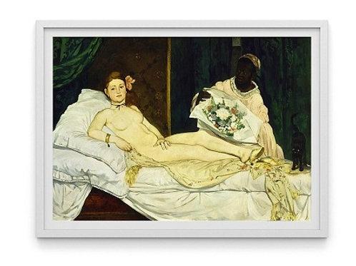 edouard manet, Olympia, quadro, poster, gravura, canvas, replica, reprodução, releitura