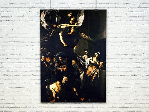 Caravaggio,As Sete Obras de Misericórdia,quadro,reprodução,poster,canvas,gravura,replica,tela,pintura