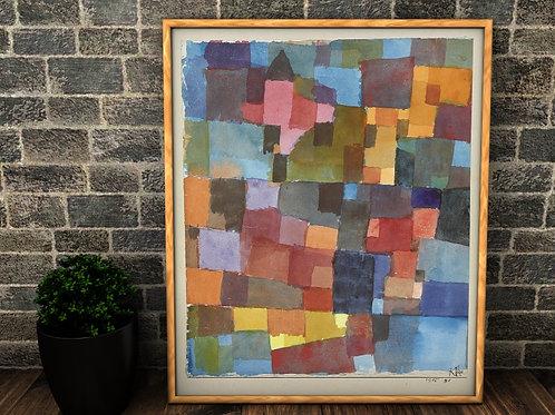Paul Klee, Arquitetura, Espaço, space architecture,quadro,reprodução,poster, canvas, gravura, replica,fototela,tela,pintura