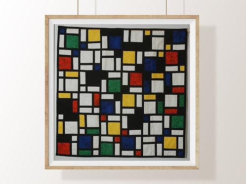 Mondrian, Composição Vermelho, Azul, Amarelo, quadro, poster, gravura, canvas, replica,reprodução