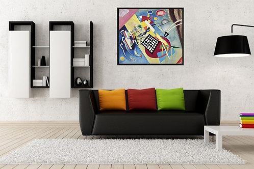 Kandinsky, grade preta, Black Grid, poster, gravura, reprodução, canvas, replica, releitura
