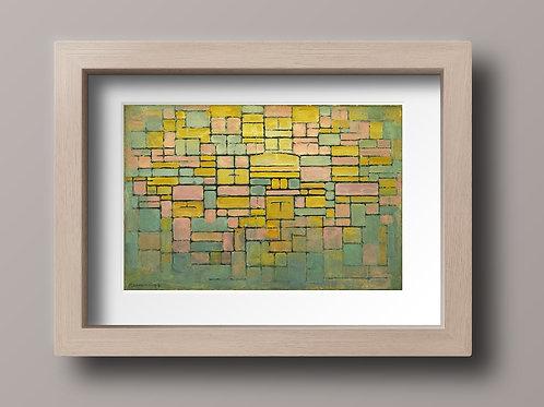 piet Mondrian, Composição, oval, cor, Composition in Oval with color, quadro, poster, gravura, canvas, replica, reprodução