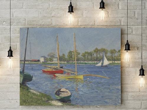 Gustave Caillebotte, O Sena em Argenteuil, quadro, poster, replica, canvas, gravura, reprodução,tela,releitura,fototela